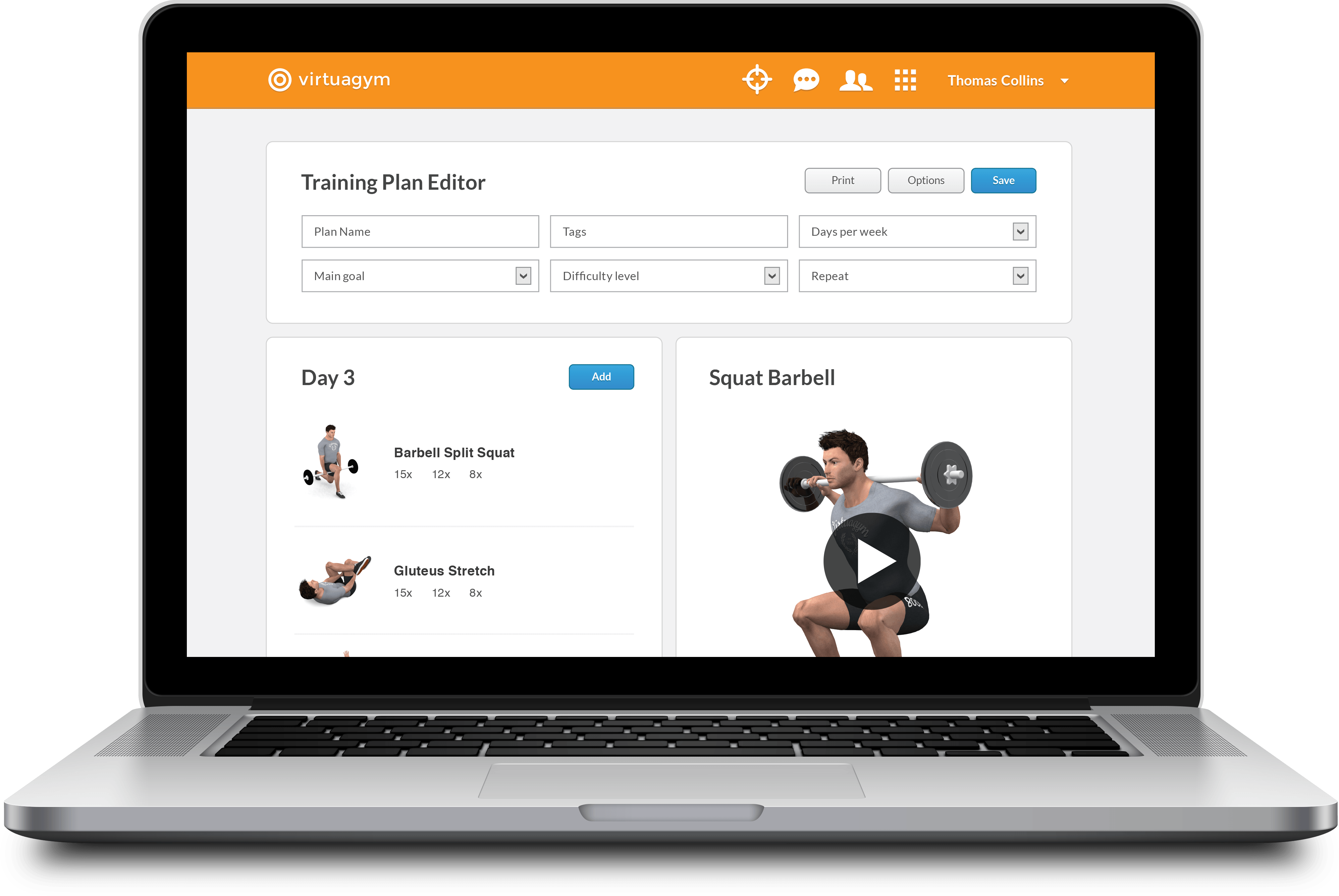 Macbook Pro Open Training Plan Editor