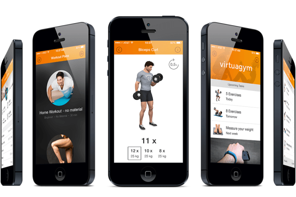 Image of fitness app
