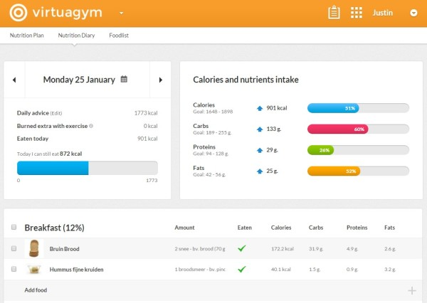 Virtuagym Nutrition Software Overview Coaching