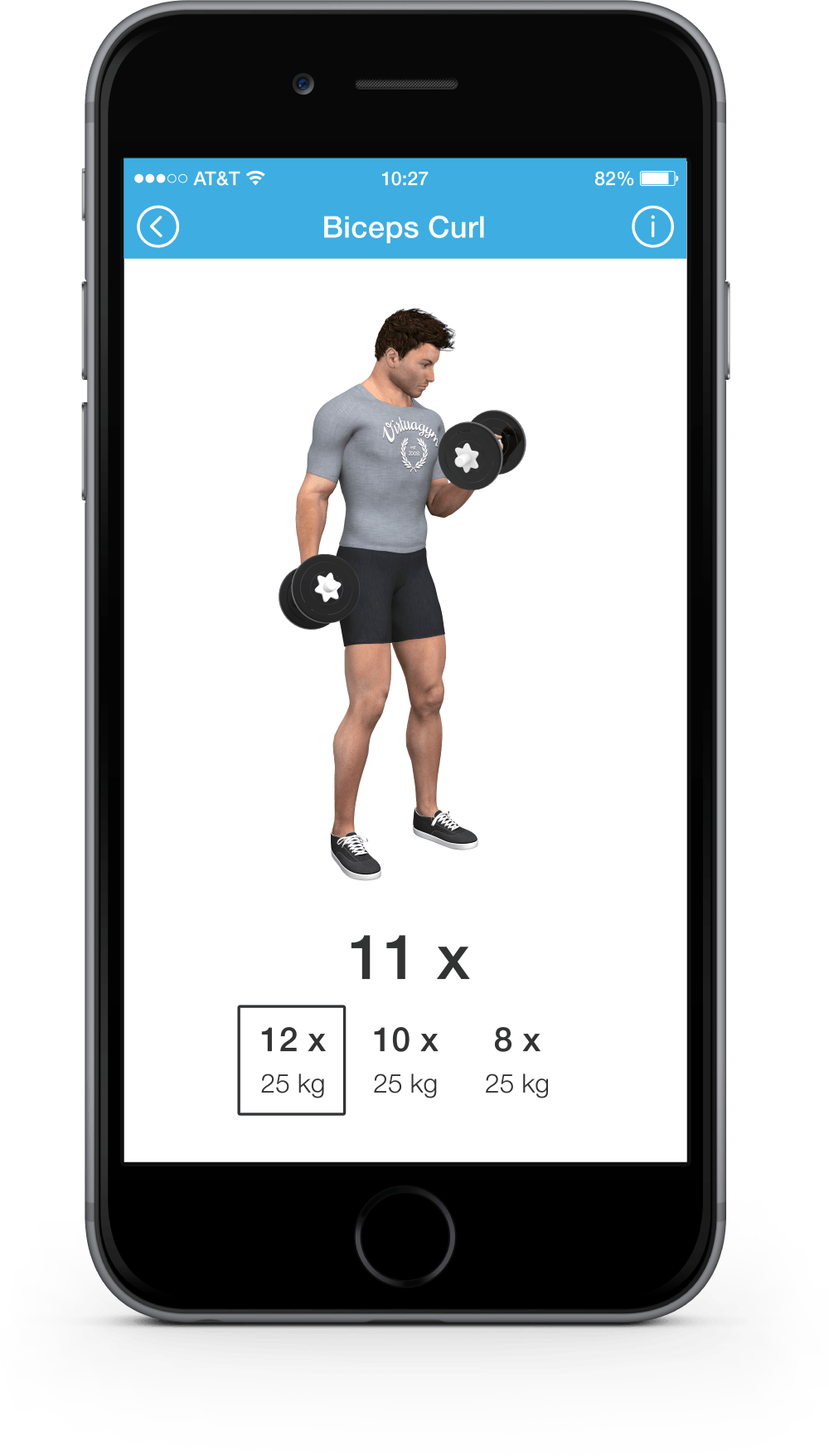 Iphone bicep curl