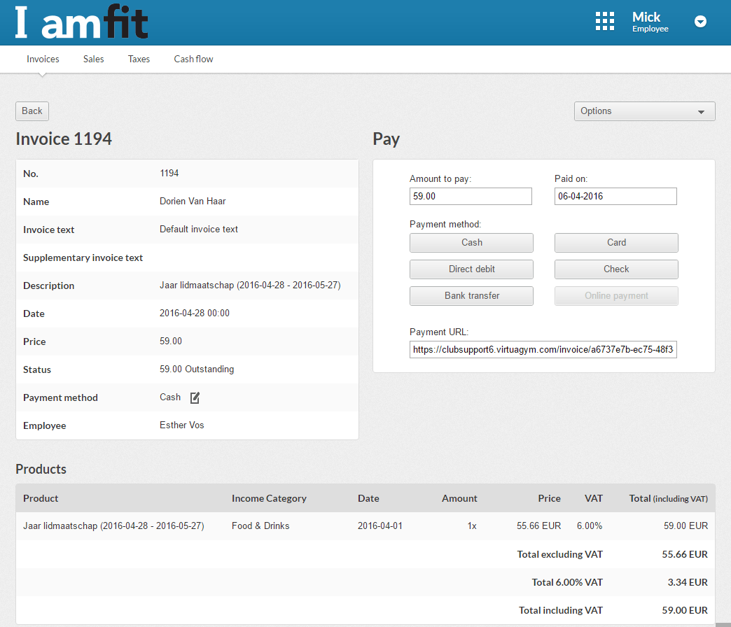invoicing software for gyms and personal trainers virtuagym