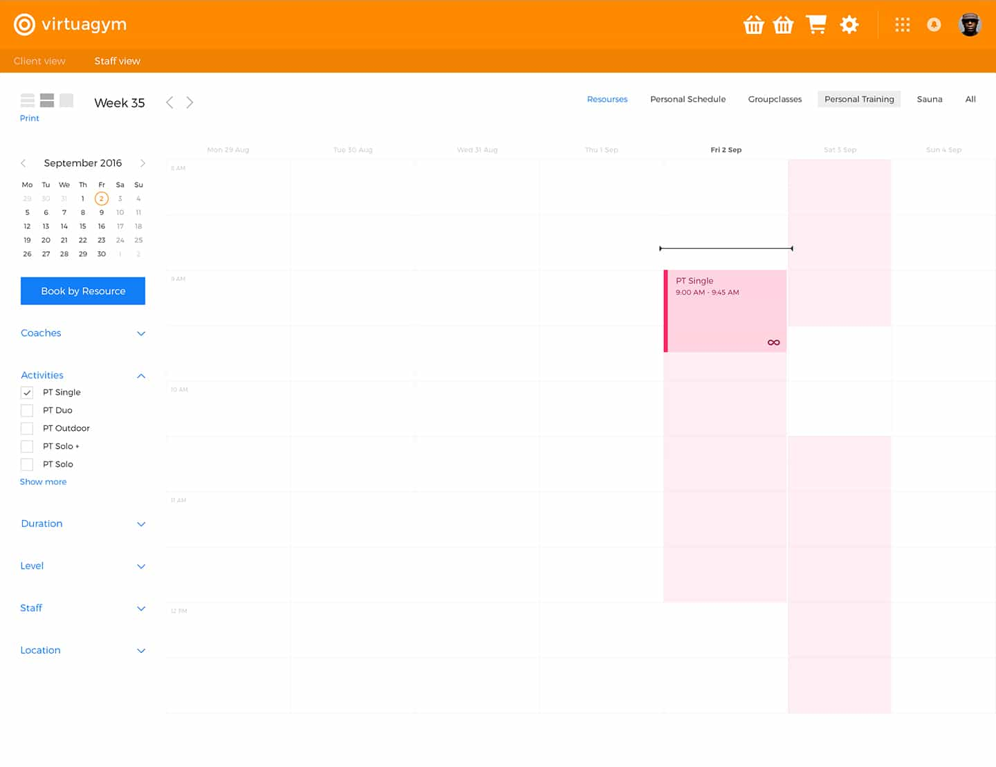 Scheduling Software for Gyms & Personal Trainers | Virtuagym